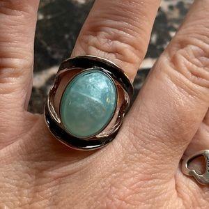 Jewelry - Oval Cut Blue Fire Opal Ring